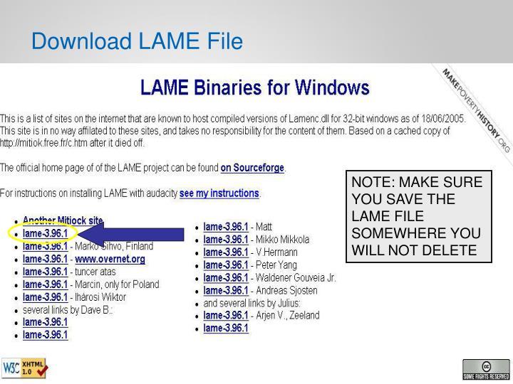 Download LAME File