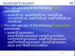 javascript evaluation 2