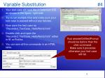 variable substitution 4