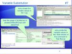 variable substitution 7