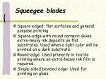 squeegee blades