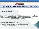 cota parte do icms decreto 4 478 011