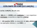 cota parte do icms lei 5 645 91