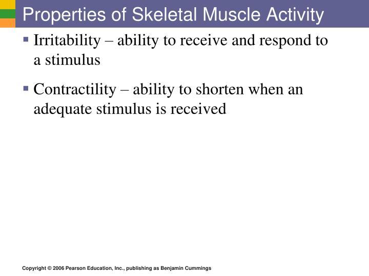 Properties of Skeletal Muscle Activity