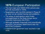 1976 european participation