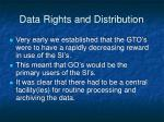 data rights and distribution