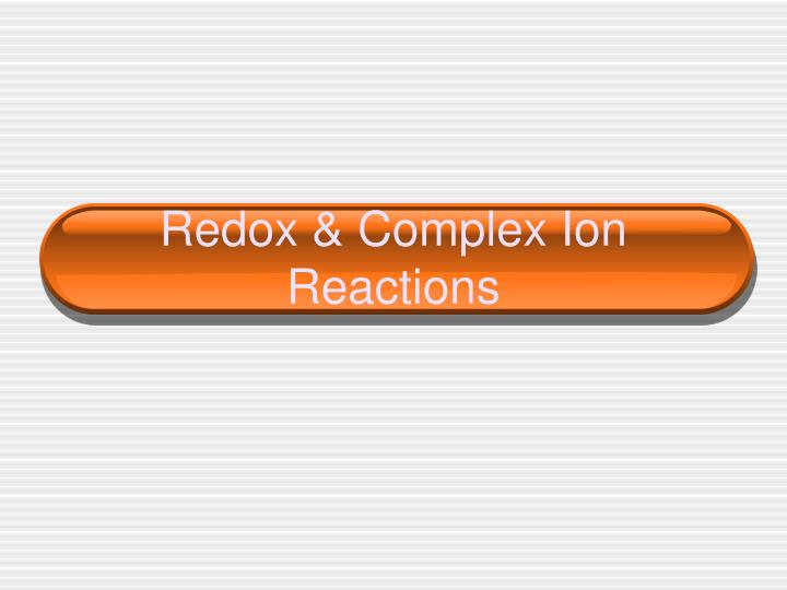 redox complex ion reactions n.