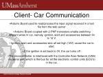 client car communication