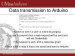 data transmission to arduino