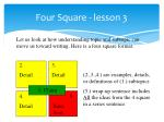 four square lesson 3