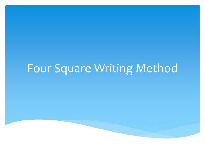 four square writing method n.