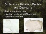 difference between marble and quartzite