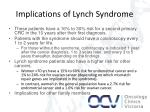 implications of lynch syndrome