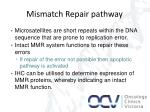 mismatch repair pathway