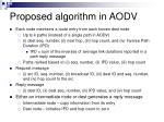 proposed algorithm in aodv