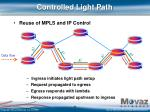 controlled light path