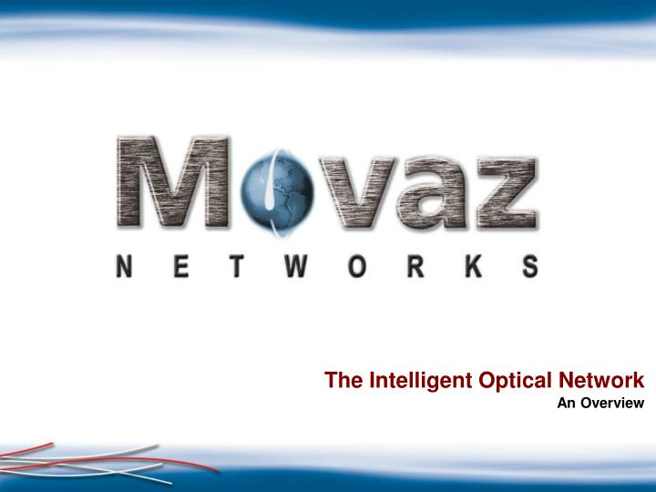the intelligent optical network n.