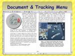 document tracking menu