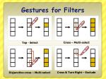 gestures for filters