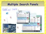 multiple search panels