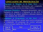 linguagens de programa o