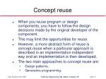 concept reuse