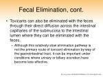 fecal elimination cont2