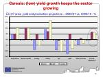 cereals low yield growth keeps the sector growing