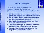 easa reaktion