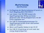 musterlassung certification
