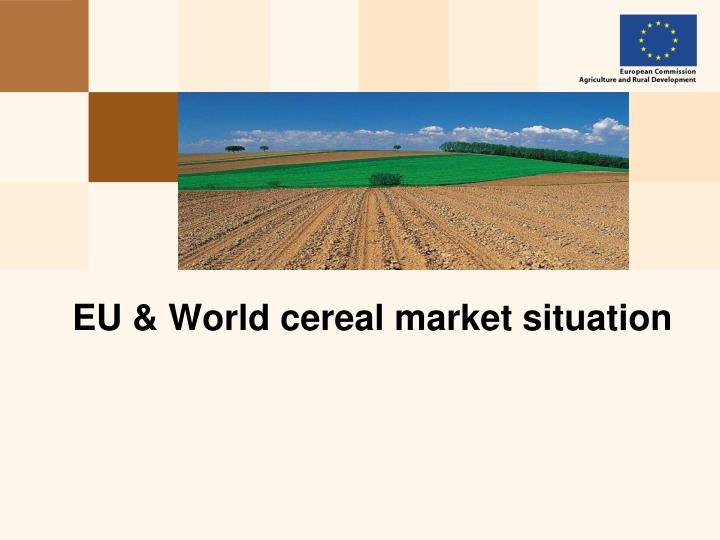 eu world cereal market situation n.