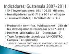 indicadores guatemala 2007 2011