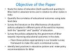 objective of the paper