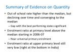 summary of evidence on quantity