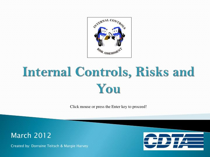 internal controls risks and you n.