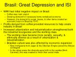 brasil great depression and isi