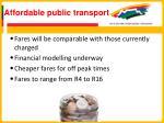 affordable public transport