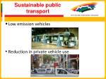 sustainable public transport