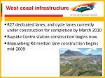 west coast infrastructure