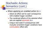 stochastic actions semantics cont