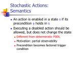 stochastic actions semantics