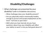 disability challenges