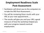 employment readiness scale post assessment