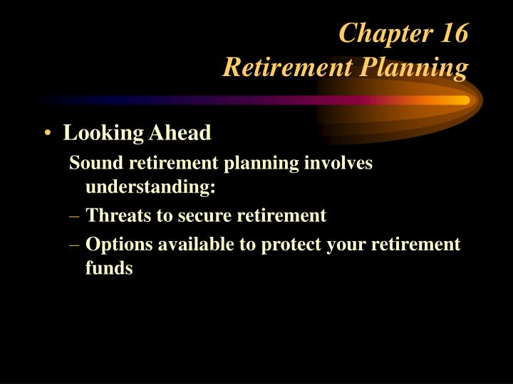 chapter 16 retirement planning n.