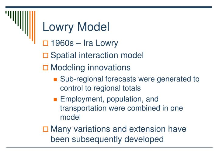 Lowry Model