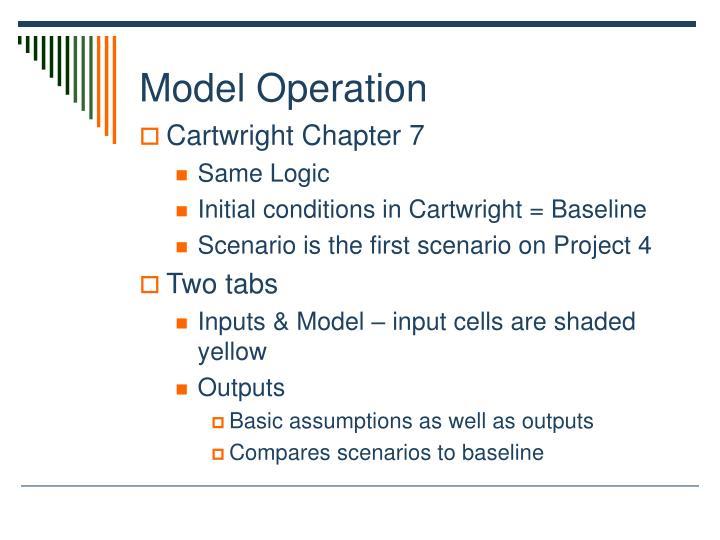 Model Operation