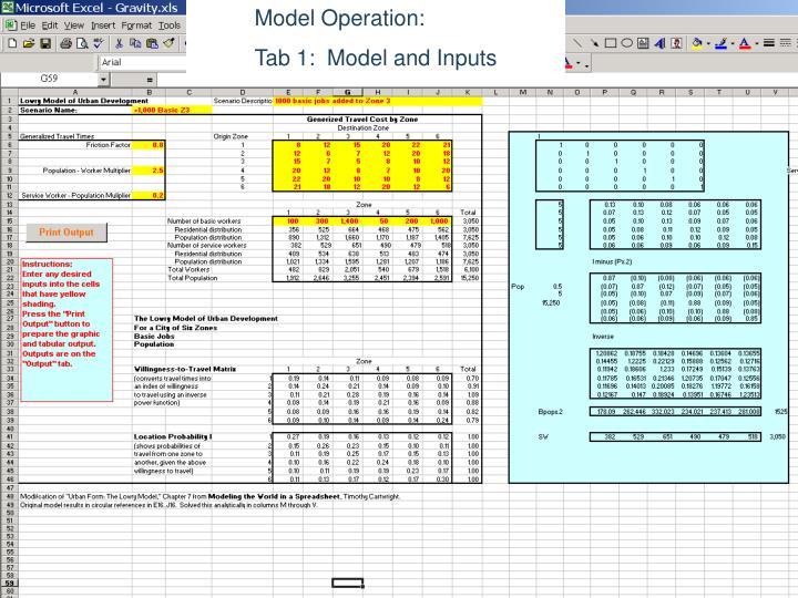 Model Operation:
