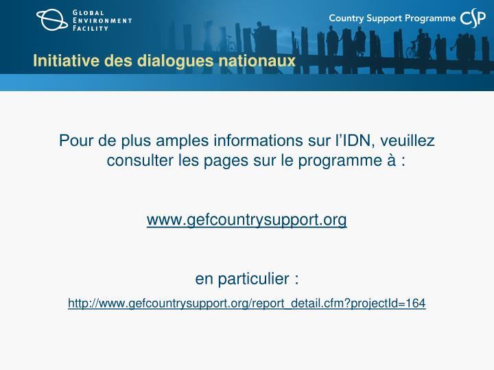 Initiative des dialogues nationaux