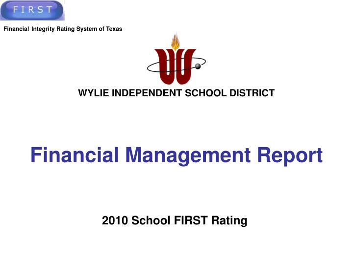 financial management report n.