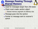 message passing through shared memory